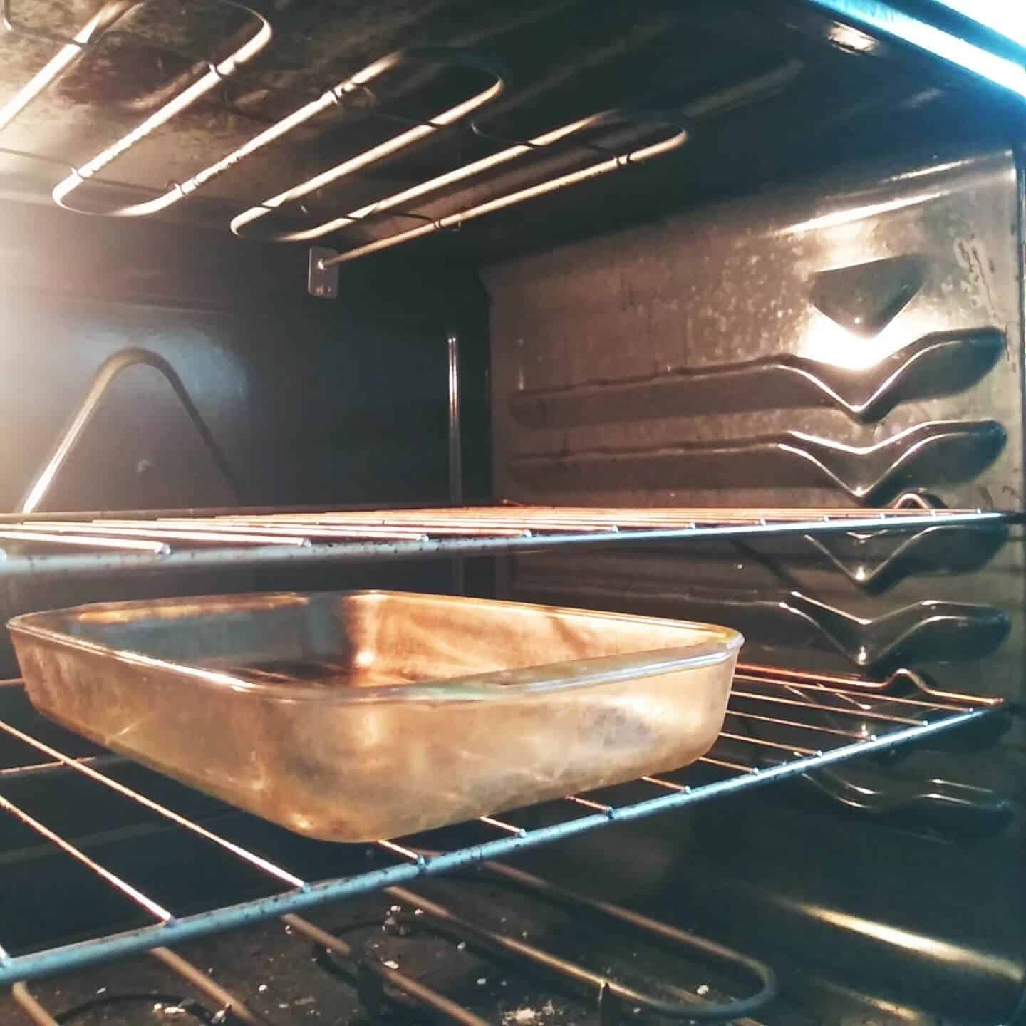 Glass Dish in the Oven